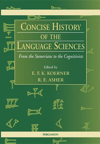 Concise History of the Language Sciences PDF