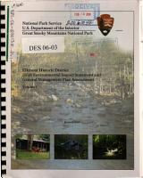 Great Smoky Mountains National Park  N P    Elkmont Historic District PDF