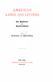American Lands and Letters...: The Mayflower to Rip Van Winkle