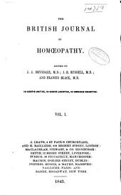 The British Journal of Homoeopathy: Volume 1