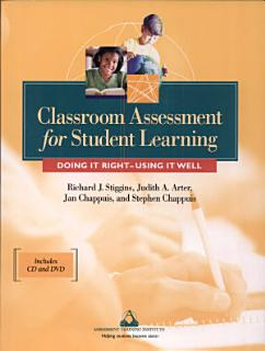 Classroom Assessment for Student Learning Book