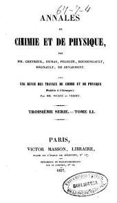 Annales de chimie et de physique: Volume51