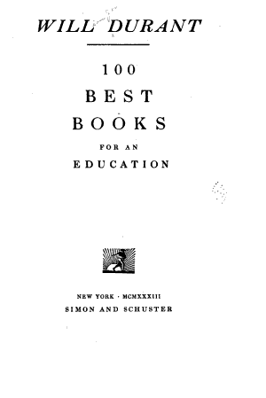 100 Best Books for an Education PDF