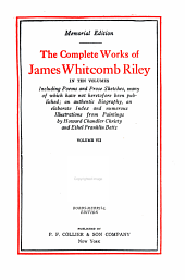 The complete works of James Whitcomb Riley: Volume 7