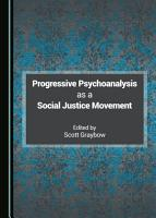 Progressive Psychoanalysis as a Social Justice Movement PDF