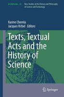 Texts  Textual Acts and the History of Science PDF