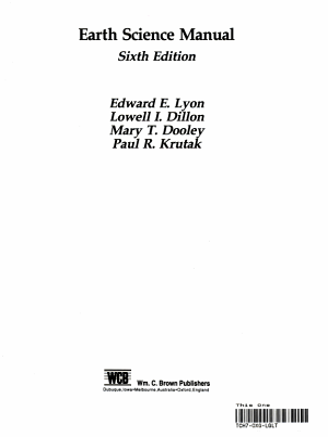 Earth Science Manual PDF