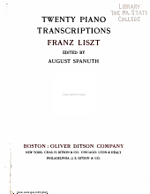 Twenty piano transcriptions