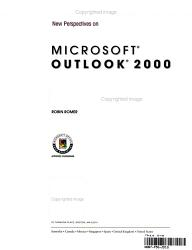 New Perspectives on Microsoft Outlook 2000   Essentials PDF