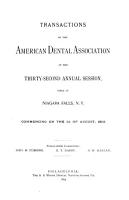 Transactions of the American Dental Association at Its     Annual Session PDF