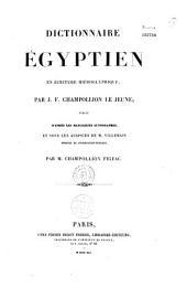 Dictionnaire égyptien en écriture hiéroglyphique