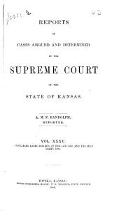 Kansas Reports: Volume 35