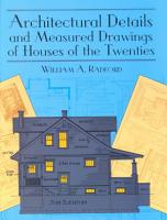 Architectural Details and Measured Drawings of Houses of the Twenties PDF