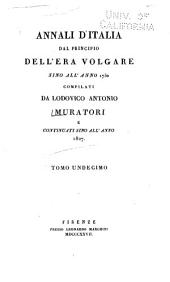 Annali d'Italia dal principio dell'era volgare sino all'anno 1750: Volumi 11-12