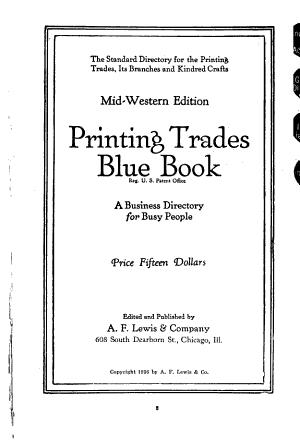 Printing Trades Blue Book