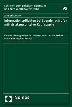 Informationspflichten bei Spendenaufrufen mittels akzessorischer Kaufappelle PDF
