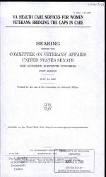 VA Health Care Services for Women Veterans