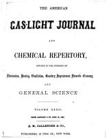 American Gas light Journal and Chemical Repertory PDF