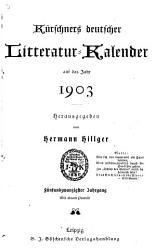 K  rschners deutscher Literatur Kalender PDF