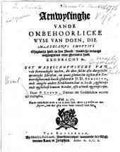Aenwysinghe vande onbehoorlicke wyse van doen, die M. Adrianus Smoutius ghepleecht heeft in syn boeck, 'twelck hy onlangs wtghegheven ende ghenaemt heeft ...