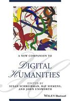 NEW COMPANION TO DIGITAL HUMANITIES PDF