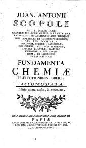 Fundamenta chemiae. Ed. altera, aucta et emendata
