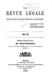 La Revue legale: Volume 12