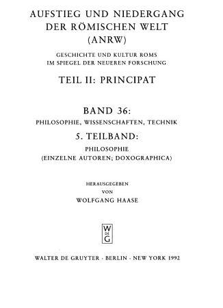 Aufstieg und Niedergang der r  mischen Welt  Principat  v PDF