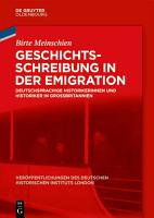 Geschichtsschreibung in der Emigration PDF