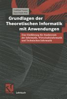 Grundlagen der Theoretischen Informatik mit Anwendungen PDF