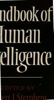 Handbook of Human Intelligence PDF