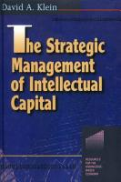 The Strategic Management of Intellectual Capital PDF