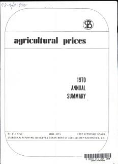 Agricultural Prices  Annual Summary Book
