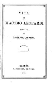 Vita di Giacomo Leopardi