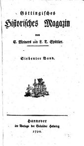 Göttingisches historisches Magazin: Band 7