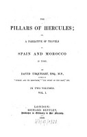 The Pillars Of Hercules  Or  A Narrative Of Travels In Spain And Morocco In 1848 PDF