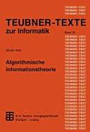 Algorithmische Informationstheorie PDF
