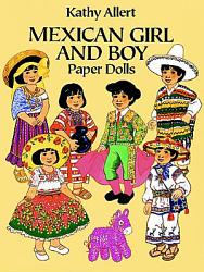 Mexican Girl And Boy Paper Dolls Book PDF