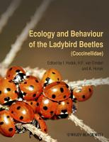 Ecology and Behaviour of the Ladybird Beetles  Coccinellidae  PDF
