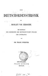 Die Deutschordenschronik des Nicolaus von Jeroschin