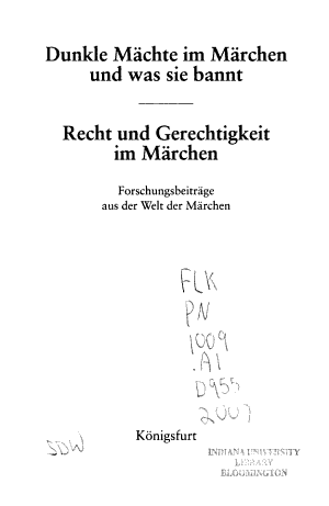 Dunkle M  chte im M  rchen und was sie bannt   Recht und Gerechtigkeit im M  rchen PDF