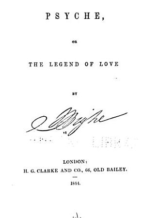 Psyche  Or  The Legend of Love PDF