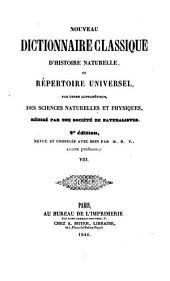 Nouveau dictionnaire classique d'histoire naturelle; ou, Répertoire universel des sciences naturelles et physiques: Volume8