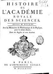 Histoire de l'Academie Royale des Sciences: année MDCCLXV, avec les mémoires de mathématique [et] de physique, pour la même année, tirés des registres de cette Académie
