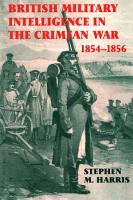 British Military Intelligence in the Crimean War  1854 1856 PDF