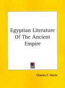 Egyptian Literature of the Ancient Empire