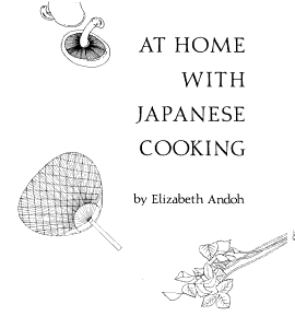At Home with Japanese Cooking Book