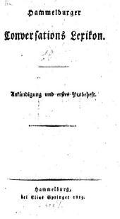 Hammelburger Conversations-Lexicon: Ankündigung und erstes Probeheft