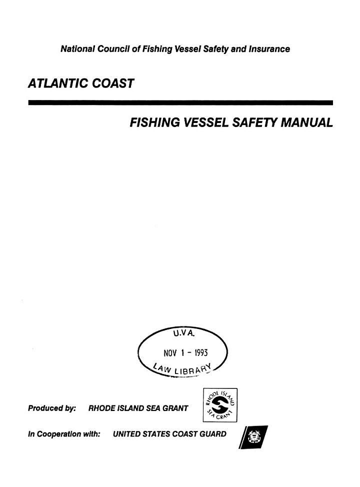 Atlantic Coast Fishing Vessel Safety Manual