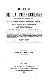 Revue de la tuberculose: Volume2